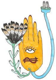 Hand-plug-flower